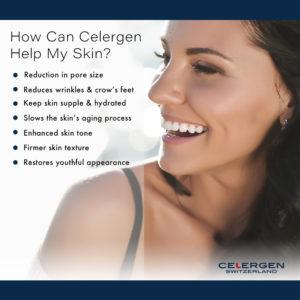 Smiling women and ways Celergen can help improve skin